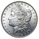 1878 Morgan Dollar - 8 Tailfeathers Brilliant Uncirculated