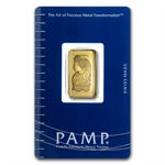 2.5 gram Pamp Suisse Gold Bar .9999 Fine (In Assay)