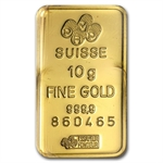 10 gram Pamp Suisse Gold Bar .9999 Fine (In Assay)