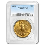 1909 $20 St. Gaudens Gold Double Eagle - MS-62 PCGS