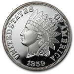 2 oz Indian Head Cent Replica Silver Round (1859) .999 Fine