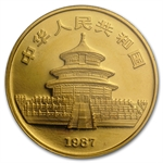 1987-S 1 oz Gold Chinese Panda MS-69 PCGS