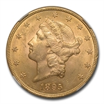 1895 $20 Gold Liberty Double Eagle - MS-63 NGC