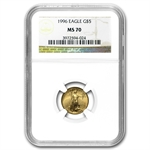 1996 1/10 oz Gold American Eagle MS-70 NGC