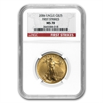 2006 4-Coin Gold American Eagle MS-70 NGC (FS) Registry Set