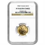 1988-P 1/4 oz Proof Gold American Eagle PF-70 NGC
