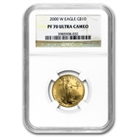 2000-W 1/4 oz Proof Gold American Eagle PF-70 NGC
