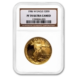 1986-W 1 oz Proof Gold American Eagle PF-70 NGC