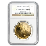 1991-W 1 oz Proof Gold American Eagle PF-70 NGC