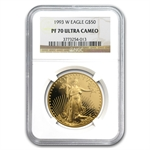 1993-W 1 oz Proof Gold American Eagle PF-70 UCAM NGC