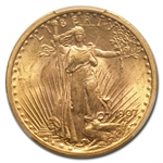 1907 $20 St. Gaudens Gold Double Eagle - AU-58 PCGS
