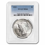 1923 Peace Dollar MS-66 PCGS