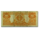 1906 $20.00 Gold Certificate (Very Fine+)