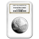 1999-P Yellowstone Park $1 Silver Commemorative - PF-69 UCAM NGC