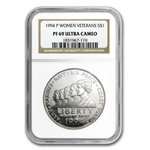 1994-P Women in Military $1 Silver Commemorative - PF-69 UCAM NGC