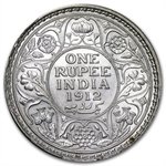 India Silver Rupees of King George V Almost Uncirculated