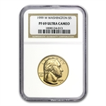 1999-W George Washington - $5 Gold Commem - PF-69 UCAM NGC
