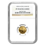 1995-W Civil War - $5 Gold Commemorative - PF-70 UCAM NGC