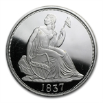 2 oz Seated Dime (Replica) Silver Round .999 Fine
