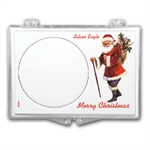 Snap-Lock Holder - Merry Christmas Santa (Silver Eagle)