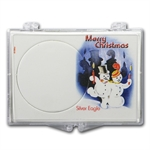 Snap-Lock Holder - Merry Christmas Snowman (Silver Eagle)