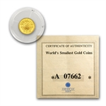 Liberia $25 .999 Pure Gold (Proof) Random Dates AGW .0234