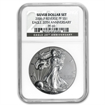 2006-P (Reverse Proof) Silver Eagle PF-69 NGC 20th Anniv