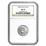 2005 1/4 oz Platinum American Eagle MS-70 NGC