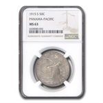1915-S Panama Pacific MS-63 NGC Exceptional Eye Appeal!