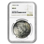 1922-D Peace Dollar MS-63 NGC