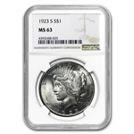1923-S Peace Dollar MS-63 NGC