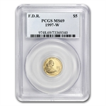 1997-W Franklin D. Roosevelt - $5 Gold Commemorative - MS-69 PCGS