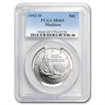 1993-W Bill of Rights Half Dollar Silver Commem MS-69 PCGS