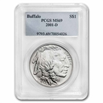 2001-D Buffalo $1 Silver Commemorative - MS-69 PCGS