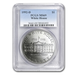 1992-D White House $1 Silver Commemorative - MS-69 PCGS