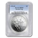 1994-D World Cup $1 Silver Commemorative - MS-69 PCGS