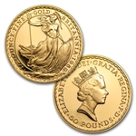 1989 4-Coin Proof Gold Britannia Set