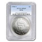 1998-S Robert F. Kennedy $1 Silver Commemorative - MS-69 PCGS