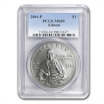 2004-P Thomas Edison $1 Silver Commemorative - MS-69 PCGS