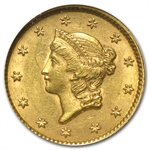 $1 Liberty Head Gold - Type 1 - MS-61 NGC or PCGS