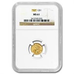 $1 Indian Head Gold - Type 3 - MS-61 NGC or PCGS