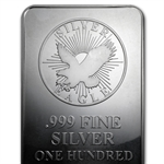 100 oz Sunshine Minting Struck Silver Bar .999 Fine