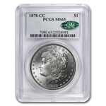 1878-CC Morgan Dollar - MS-65 PCGS - CAC