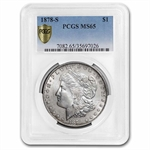 1878-S Morgan Dollar - MS-65 PCGS