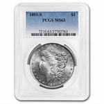 1891-S Morgan Dollar MS-63 PCGS
