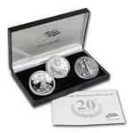 2006 ( 3-Coin) Silver Eagle Set w/Box & CoA 20th Anniversary