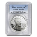 1998-S Black Patriots $1 Silver Commemorative PR-69 DCAM PCGS