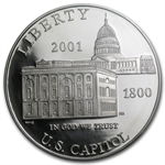 2001-P Capitol Visitor Center $1 Silver Commem - PR-69 DCAM PCGS