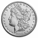 1901-S Morgan Dollar - Almost Uncirculated-58