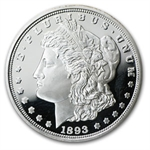 1 oz 1893-O Morgan Dollar Replica Silver Round (Proof) .999 Fine